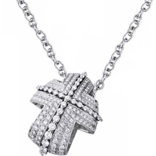 aspetto dettagliato nessuna tassa di vendita per tutta la famiglia Recarlo Collana Oro Bianco Diamanti Lucrezia ZT339/5BM ...