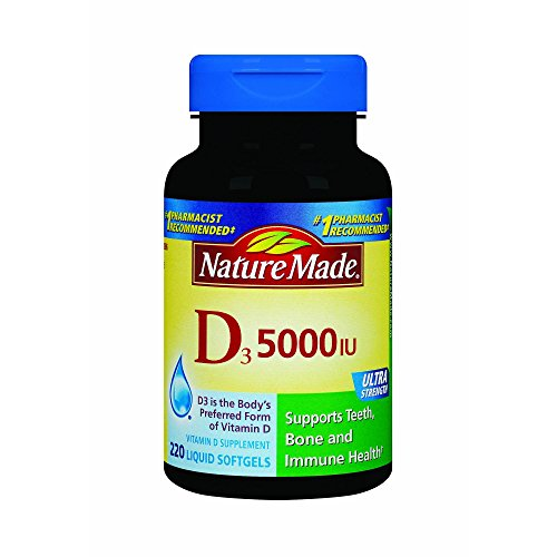 Nature Made Vitamin D-3 5000IU 220 Count Softgels