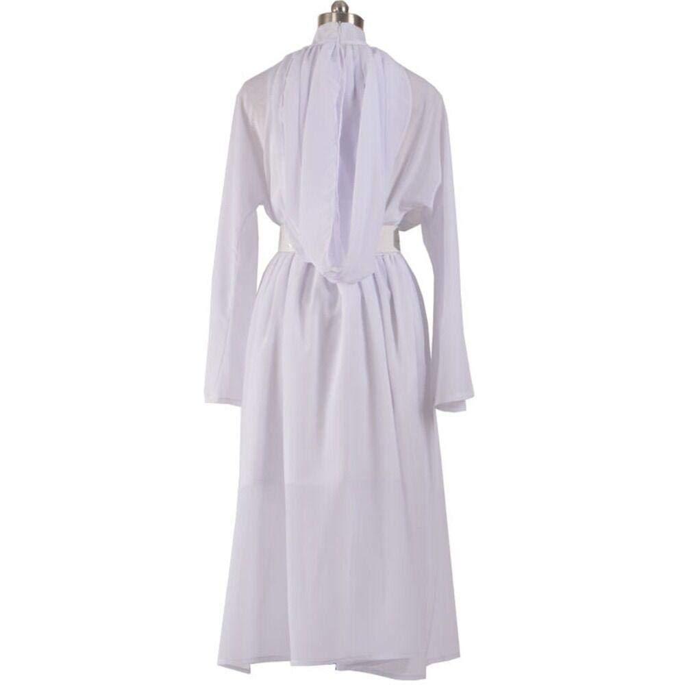 Episode IV - Disfraz de Mujer Leia (Vestido Blanco) para Cosplay ...
