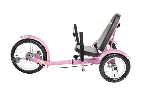 Mobo Cruiser Triton Ultimate Three Wheeled Cruiser, Pink, 16-Inch