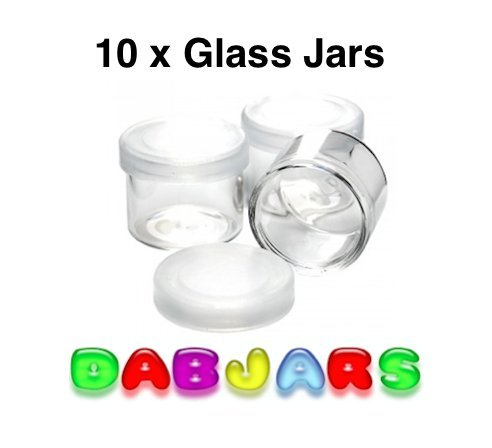 10 Glass Jars for cosmetics beauty health makeup travel balms oils powders creams ointments small safe pots pop lids wholesale retail packaging lot - Ship First Cost Package To Class