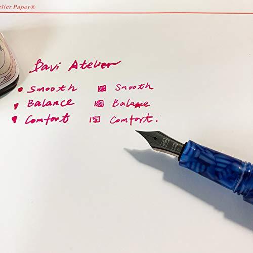 NEW Multifunctional Mini Glass Dip Pen, Delike Resin Acrylic EF Nib Fountain Pen, Cartridge Pocket Pen, Signature Pen Business Gift (Oriental Blue Color) by Asvine (Image #4)