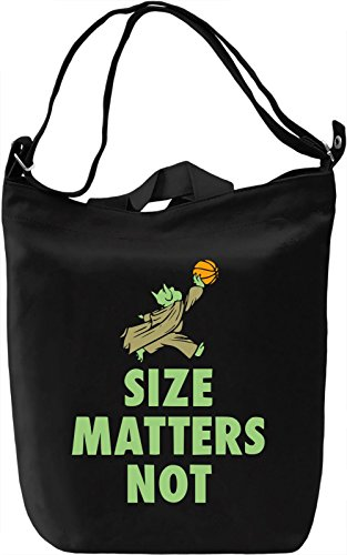 Size Matters Not Borsa Giornaliera Canvas Canvas Day Bag| 100% Premium Cotton Canvas| DTG Printing|