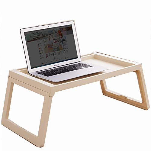 SHELFDQ Laptop Table Easy Foldable Bed Desk Student Dormitory Lazy Study Table Modern (Color : Beige) by SHELFDQ (Image #5)