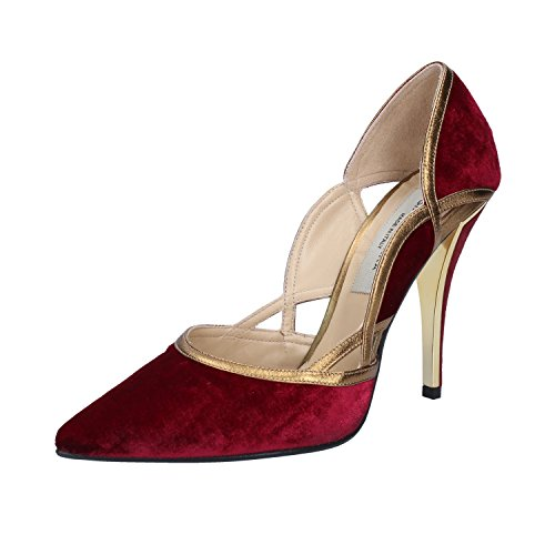 GIANNI MARRA Burgundy Velvet Heeled Sandals EU Pumps 38 Womens rrxnA7PwHq