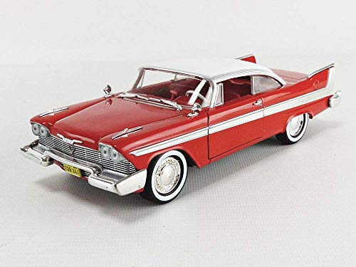- 1958 Plymouth Fury Red Christine (1983) Movie 1/24 Diecast Model Car by Greenlight 84071