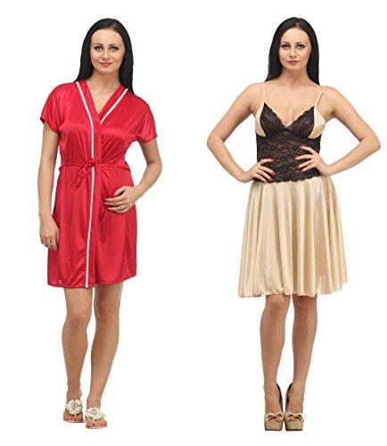 Klamotten Satin Babydoll Women Nightwear Pack Of Two X04-X06