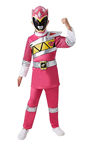 Girls Pink Power Ranger Super Hero Halloween Book Day Week Fancy Dress Costume Outfit (3-4 Years, Pink) -