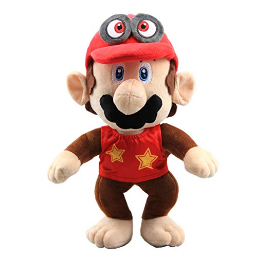 uiuoutoy Super Mario Odyssey Cappy Diddy Kong Plush 12