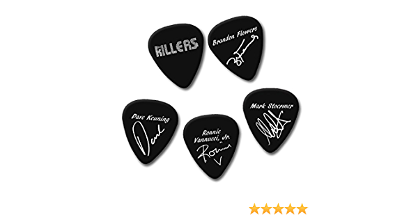 Famous signature print plectrum guitar pick picks cambria