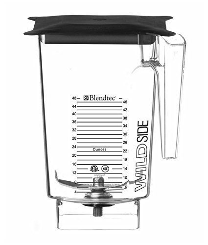 Blendtec-40-630-61-WildSide-Jar-for-Stealth-Blender-3-Qt-Soft-Lid-Patented-5-Sided-Jar-Produces-Better-Blending-Vortex-Includes-4-Tuned-Wingtip-Blade