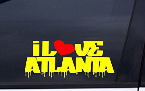 Fulton Stadium Atlanta (I LOVE ATLANTA vinyl decal 3