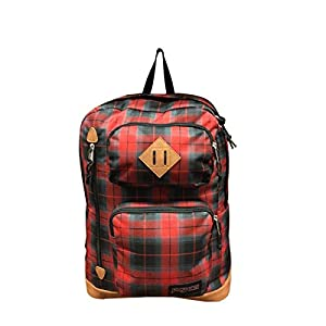 """JanSport Mens Classic Specialty Houston Backpack - Red Tape Iplaid / 17.7""""H x 12.8""""W x 5.5""""D"""