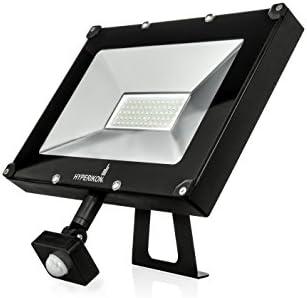 LUXPERT Motion Sensor Security Light – Flood Light Integrated LED Plug-in 1000Lm Super Bright LED IP65 Waterproof Security Light for Garage, Porch, Yard, Entryways