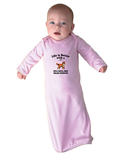 NOVA SCOTIA DUCK TOLLING RETRIEVER DOG Life Better Baby Layette Sleeping Gown Soft - Sp Fashion Nova