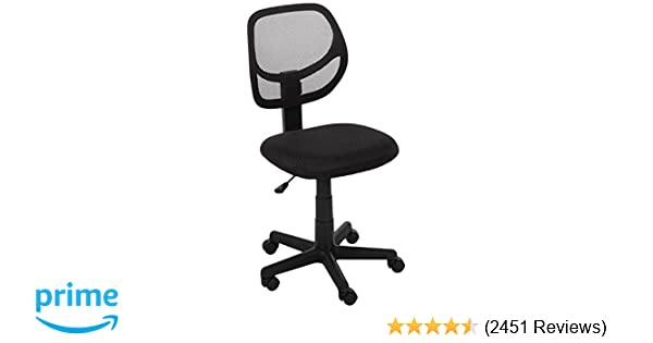 Amazon.com AmazonBasics Low-Back Computer Task/Desk Chair with Swivel Casters - Black Kitchen u0026 Dining  sc 1 st  Amazon.com & Amazon.com: AmazonBasics Low-Back Computer Task/Desk Chair with ...