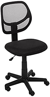 AmazonBasics Low-Back Computer Task Office Desk Chair with Swivel Casters - Black (B01D7P5BFS) | Amazon Products