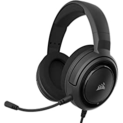 Corsair HS35 Stereo Gaming Headset, Custom 50 mm Neodymium Speakers, Detachable Unidirectional Microphone, Lightweight…