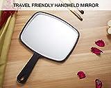OMIRO Hand Mirror, Black Handheld Mirror with
