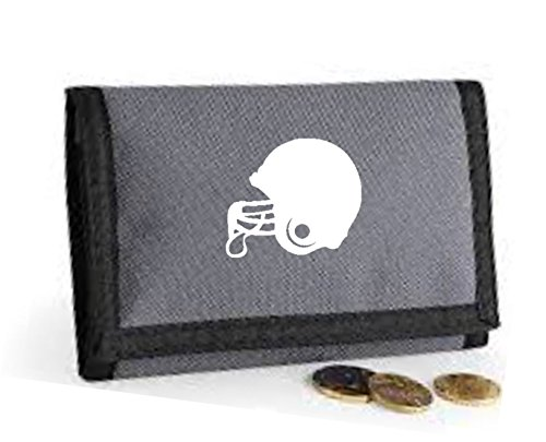 American American Grey Football Football Helmet Wallet Grey Themed Printed SUnzqU5wR