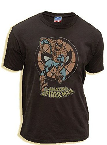 The Amazing Spiderman Circle Black Wash Adult T-Shirt Tee