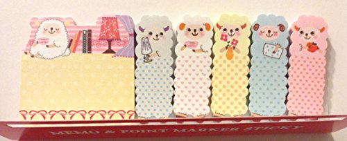 1 X Cute Sheep Animal Sticker Bookmark Marker Memo Flags Index Tab Sticky Notes