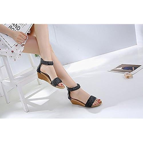 9a98d8c5 70% OFF Ruiren Sandalias Romanas de Cuña de Mujer, Zapatos de Verano para  Damas