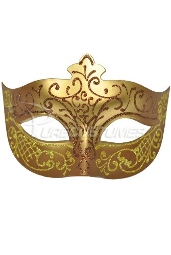 [Pure Seasons Royal Countess Venetian Mask (Brown)-Standard] (Womens Masquerade Costume Countess)