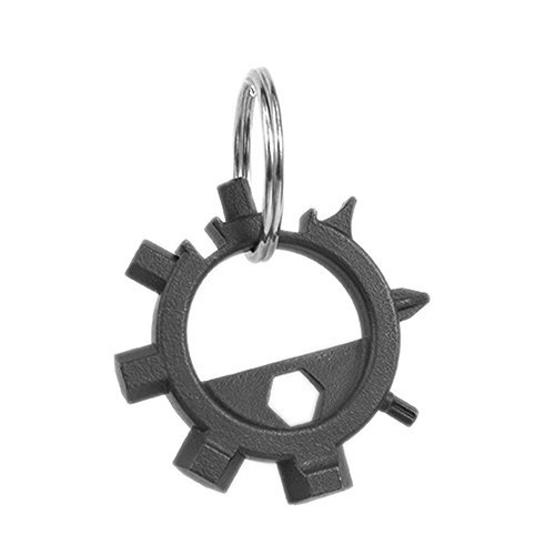 Lixada EDC Gear Outdoor Multifunctional Octopus Tool Stainless Steel Screwdriver Head Carry Portable Bicycle Repair Equipment Key Ring Keychain Pocket Mini