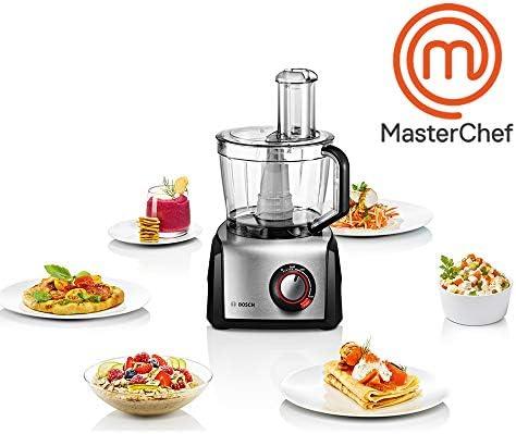 Bosch MC812M844 MultiTalent 8 Robot de cocina con accesorios, 1.250 W, 3.9 litros de capacidad, color negro y acero inoxidable: Amazon.es: Hogar
