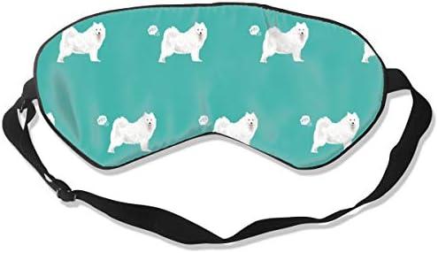 Samoyed Dog Funny Fart Pure Breed Pets Teal Sleep Mask Pack Men ...