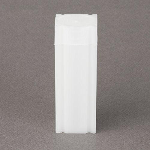 (5) Coinsafe Brand Square White Plastic (Nickel) Size Coin Storage Tube (5 Square Corner)
