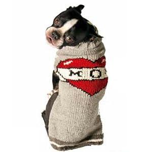 Chilly Dog Tattooed Mom Dog Sweater, Large