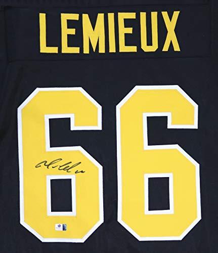 Mario Lemieux Pittsburgh Penguins Autographed Black #66 Custom Jersey COA
