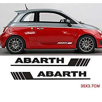 Sellify 2pcs puerta lateral Decalsfor Abarth faldón lateral Etiqueta Bodyfor FIAT 500 Car Styling - (Nombre de color: Como imagen): Amazon.es: Coche y moto