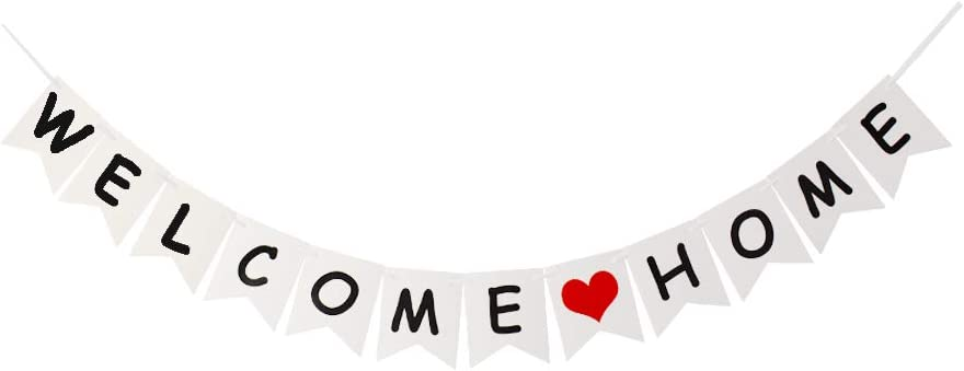 Welcome Home Banner, for Family Party Supplies, Home Party Decors