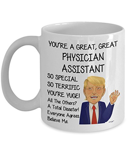 (Physician Assistant Mug - Funny Coffee Gifts Men Women Coworker - Birthday Christmas Future Graduation Retirement Gag 15 oz Large Tea Cup   Whizk MTR377)