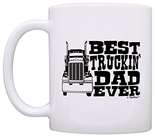 Father's Day Gift Best Truckin' Dad Ever Truck Driver Trucker Coffee Mug Tea Cup