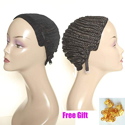 Geyashi Hair Breathable with Adjustable Straps Swiss Lace in Front for Making Wig Durable Stable Black Top Quality Elastic Braided Wig Cap