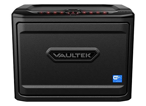 Vaultek MX Wi-Fi Safe High Capacity Smart Handgun Safe Multiple Pistol Storage Smart Safe with Alerts to Smartphone Auto-Open Door and Rechargeable Battery (Biometric (Black))