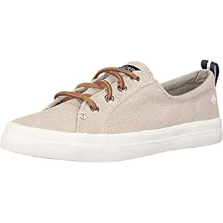 Sperry womens Crest Vibe Linen,Oat,9.5 W US