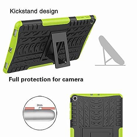 TPU Silicone Funda con Stand Protecci/ón para Samsung Galaxy Tab A 10.1 T510//T515 2019 Cover Case Carcasa Armor Style Hybrid PC XITODA Samsung Galaxy Tab A 10.1 2019 Funda Negro