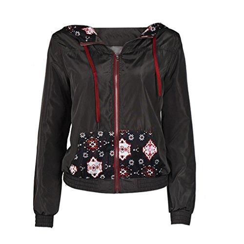 Koly_Le donne autunno inverno strada stampa cappotto giacche casual