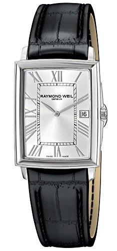 Raymond Weil Tradition Stainless Steel Mens Strap Watch Silver Dial 5456-STC-00658