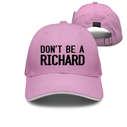 seball Cap Snapback Hat Printed Personality Camouflage Cap Don't Be A Richard Trucker Cap Hip Hop Hat (Hip Hop Trucker Hats)