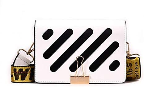 Bingo Point Patchworl PU Leather Handbags Personalized Cute Moni Shoulder Messenger Small Bag Stripe Crossbody Bag