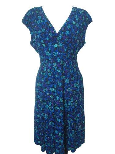 JONES NEW YORK Women's Relaxed Fit Dress-POOL BLUE-10