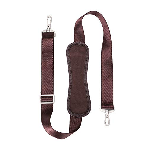 59 INCH Universal Replacement Shoulder Strap Adjustable Webbing with Metal Swivel Hooks for Laptop Case Briefcase Pet Carrier (Brown)