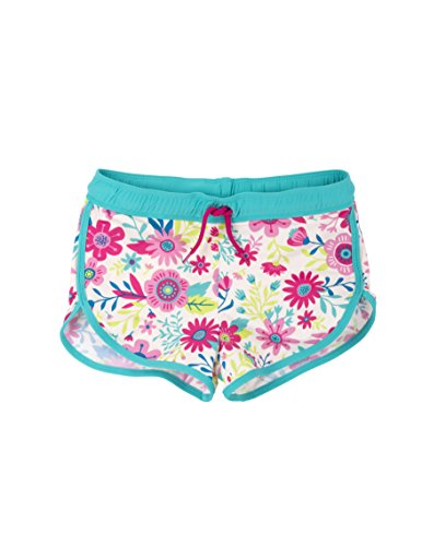 Hatley Little Girls' Swim Shorts, Wallpaper Flowers, 5 (Power Wallpaper Girl)