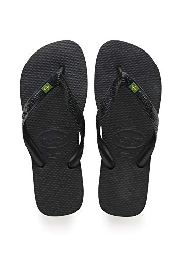 - Havaianas Men's Brazil Flip Flop Sandal,Black, 43/44 BR(10-11 M US Men's)